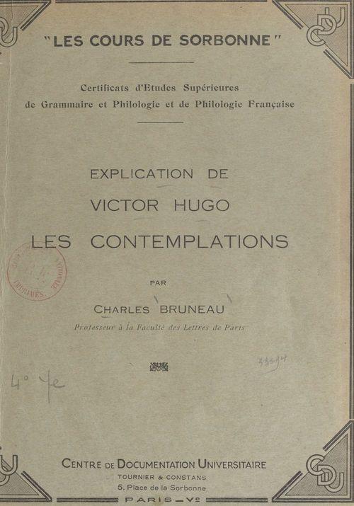 Explication de Victor Hugo : Les Contemplations