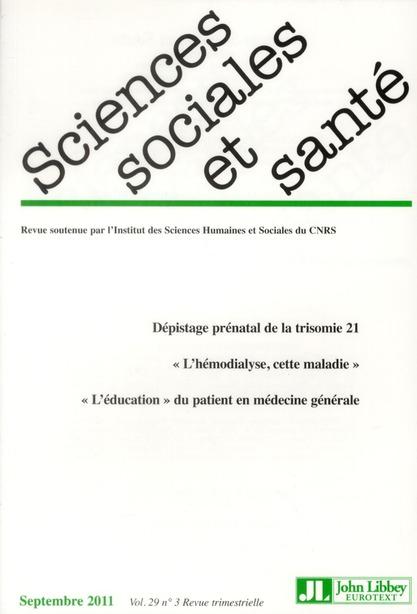 Revue sciences sociales et sante n.3