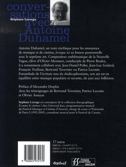 Conversations avec Antoine Duhamel