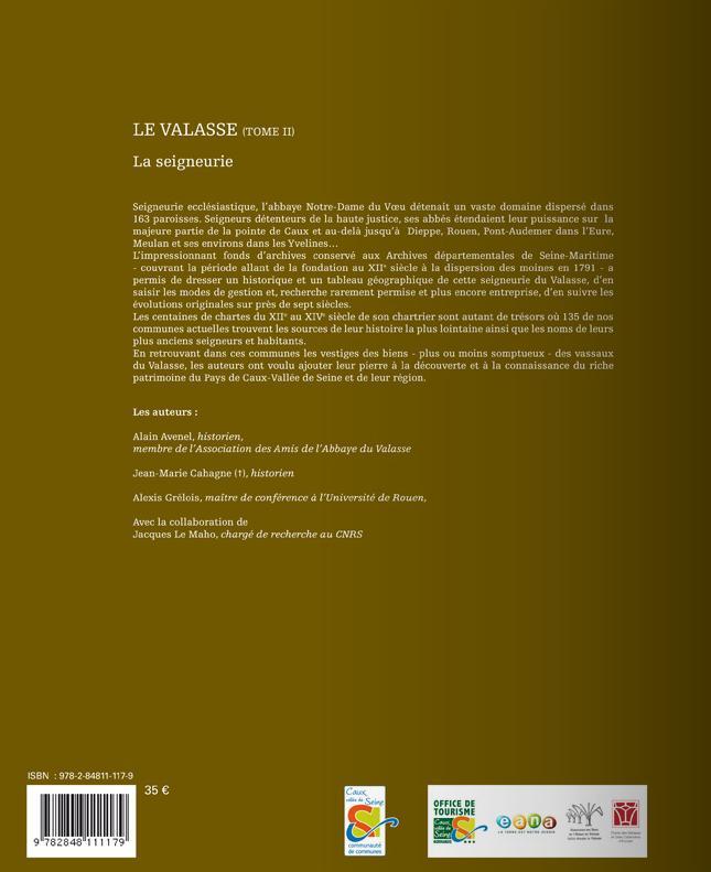 Le valasse t.2 ; la seigneurie (1157-1791)