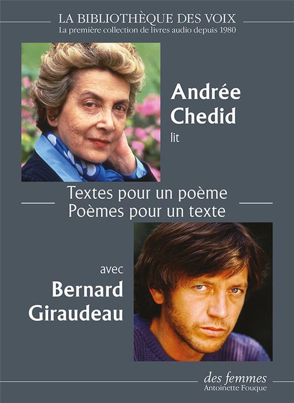 Textes pour un poème ; poèmes pour un texte