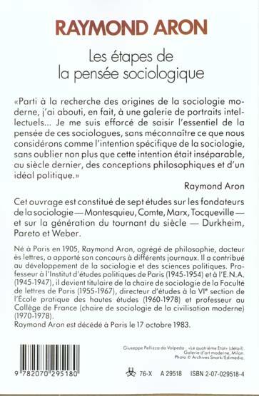 Les etapes de la pensee sociologique - montesquieu, comte, marx, tocqueville, durkheim, pareto, webe