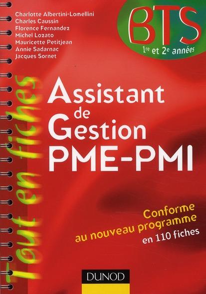 Assistant de gestion PME-PMI ; BTS 1ère et 2ème année ; en 110 fiches (9e édition)