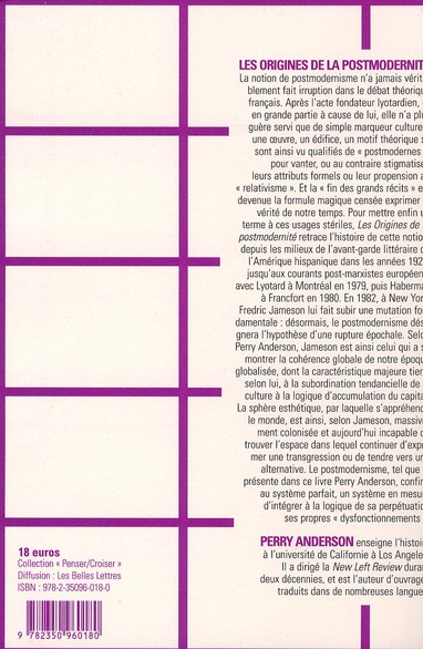 Les origines de la postmodernité