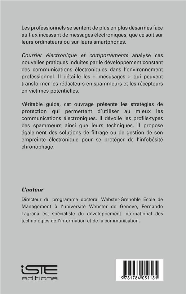Courrier électronique et comportements ; usages et mésusages