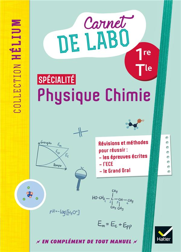 Physique chimie 1re/tle - ed. 2020 - carnet de labo eleve
