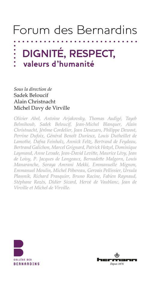 Dignité, Respect, valeurs d´humanité  - Beloucif Sadek  - Collectif
