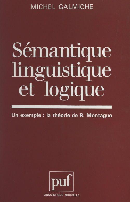 Sémantique linguistique et logique