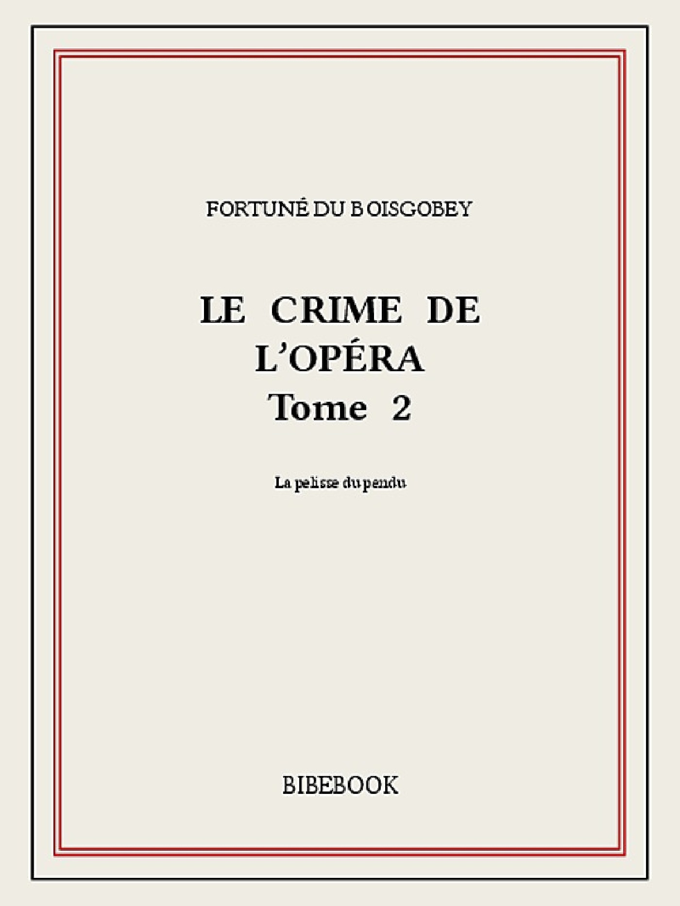Le crime de l'Opéra 2