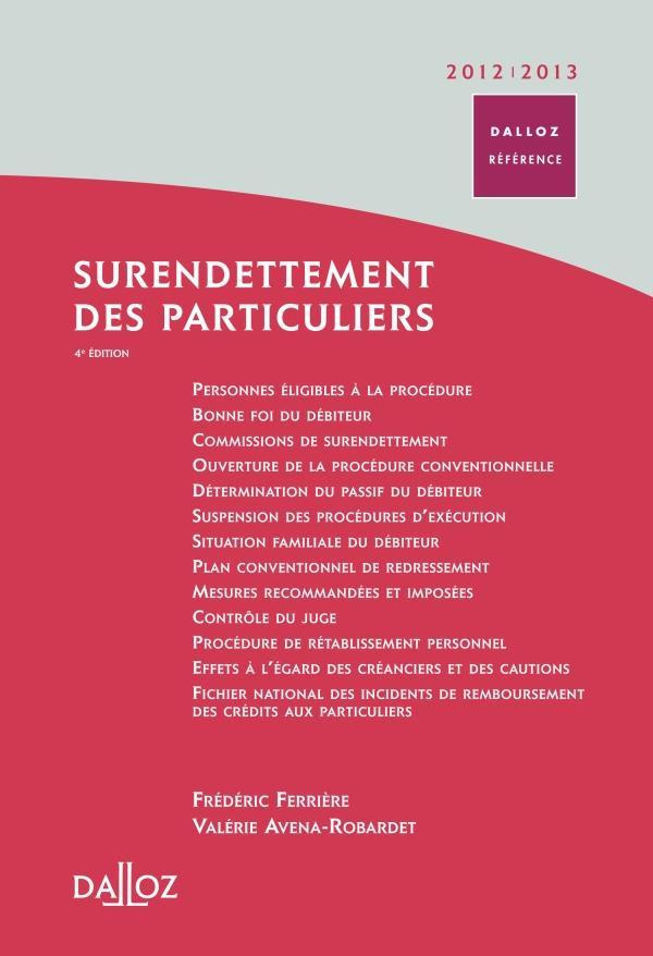 Surendettement des particuliers (édition 2012/2013)