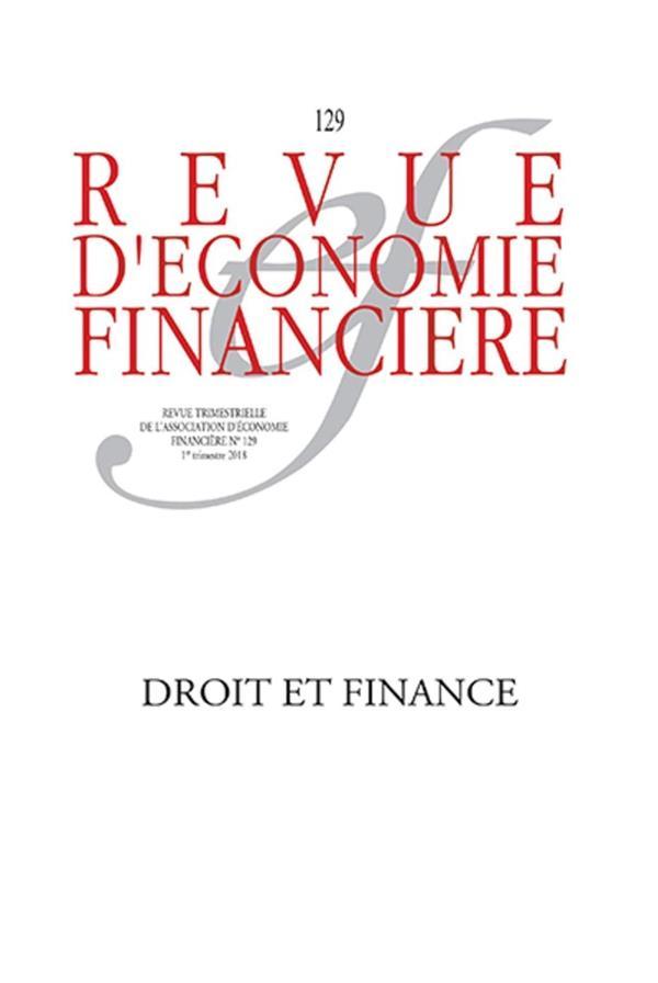 Revue d'economie financiere n.129 ; droit et finance