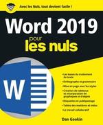 Vente Livre Numérique : Word pour les nuls (édition 2019)  - Dan Gookin