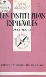 Les institutions espagnoles