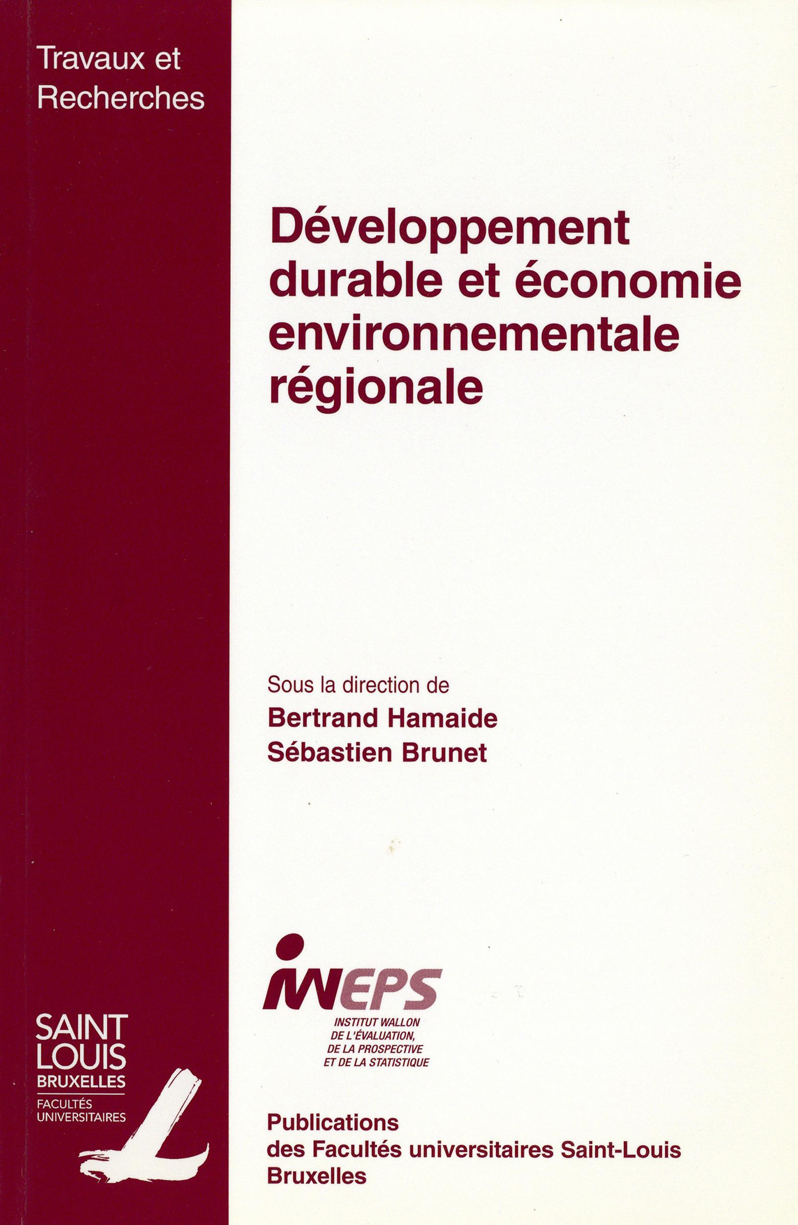 Developpement durable et economie environnementale regionale