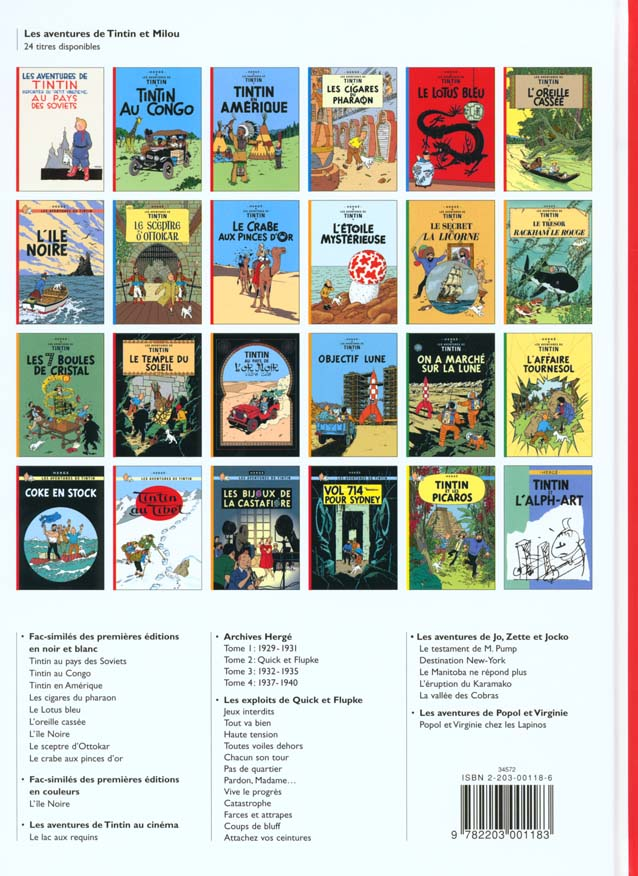 les aventures de Tintin t.19 ; coke en stock