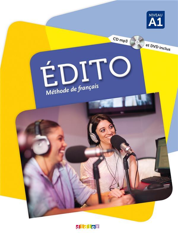 édito ; niveau A1 ; livre + CD MP3 + DVD