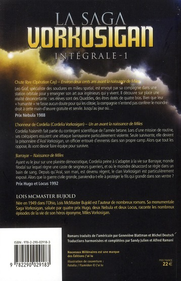 La saga Vorkosigan ; INTEGRALE VOL.1 ; T.1 A T.3