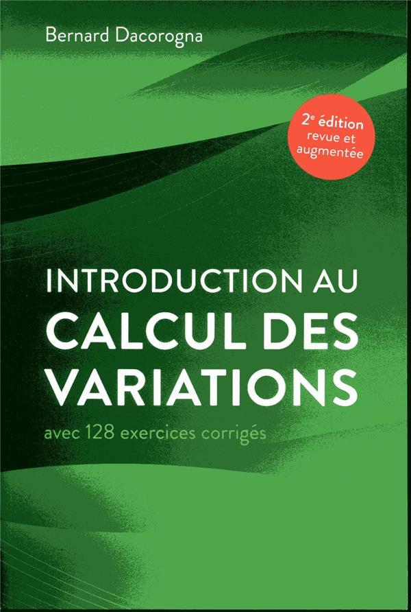 Introduction au calcul des variations (2e édition)