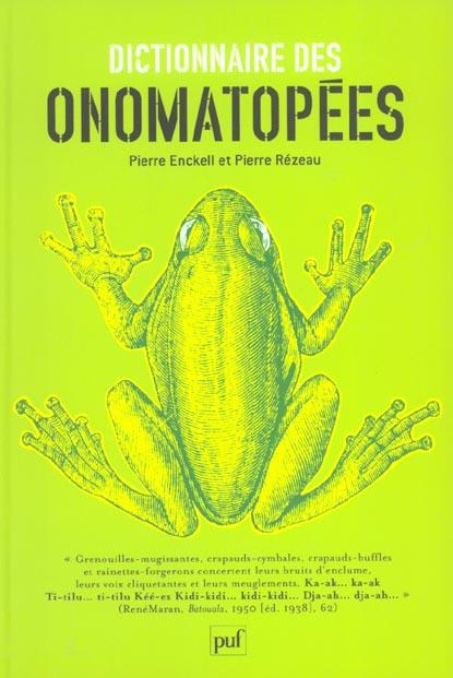 Dictionnaire des onomatopées