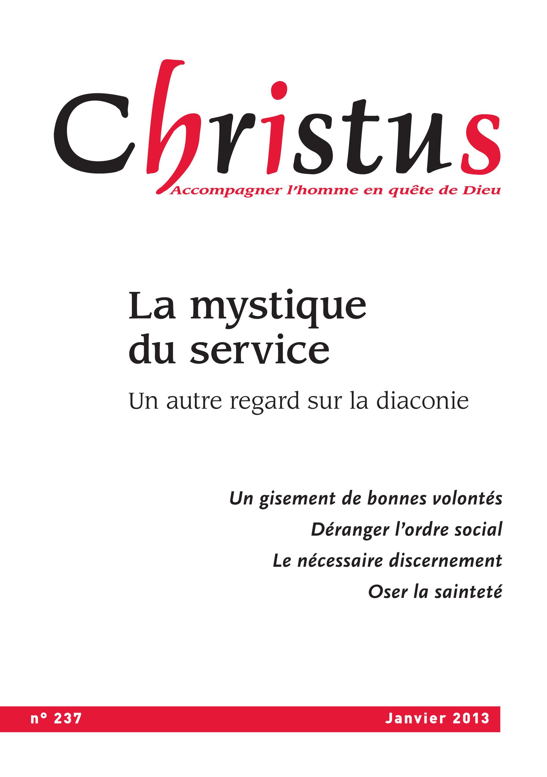 Revue christus ; Christus Janvier 2013 - N°237