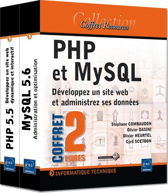 Php et MySql ; développez un site web et administrez ses données ; coffret