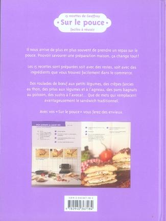 15 recettes de Geoffroy ; sur le pouce