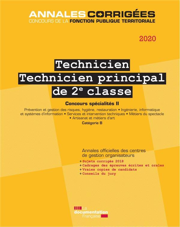 Technicien, technicien principal ; concours catégorie B, spécialité II (édition 2019)