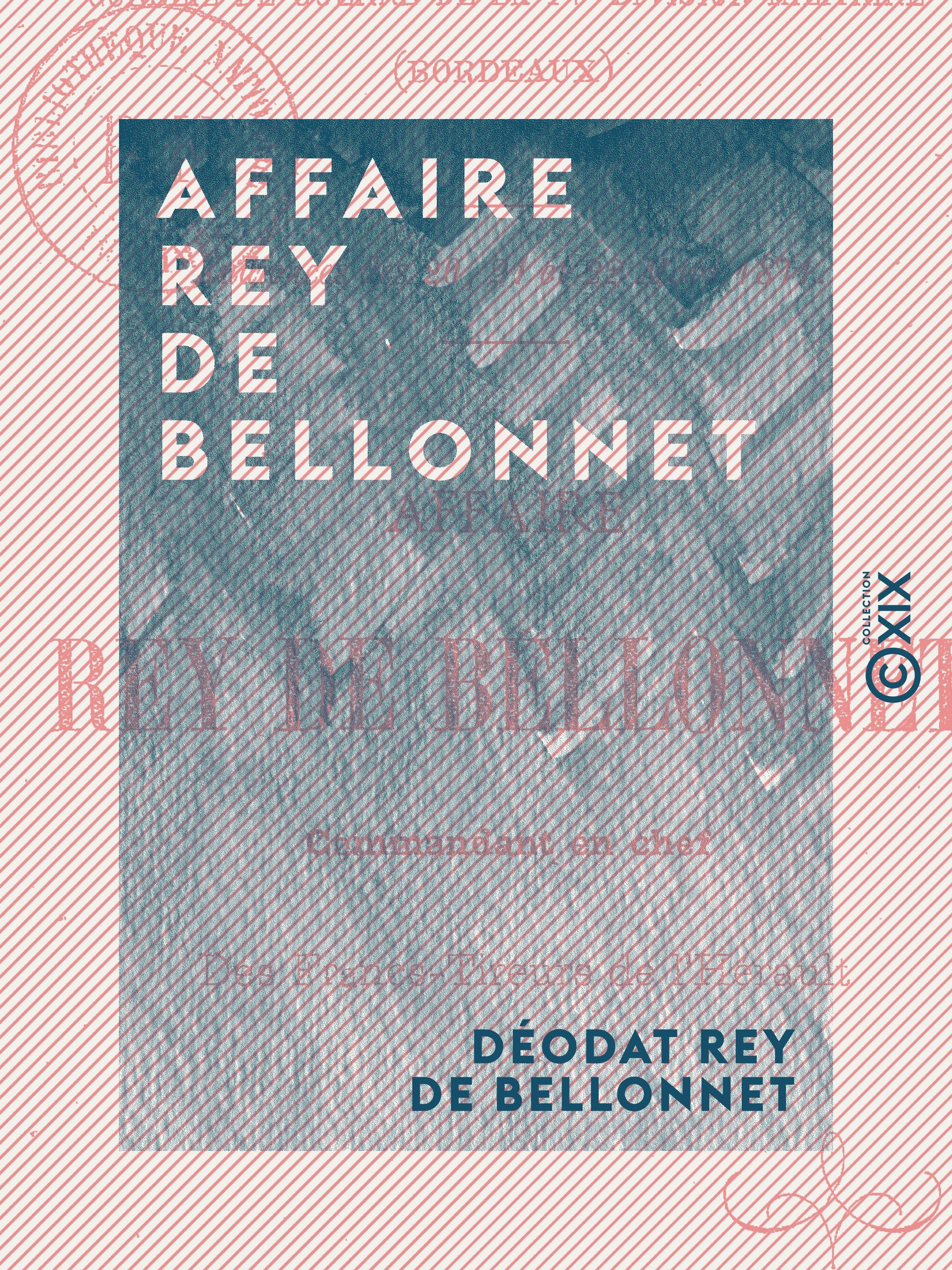Affaire Rey de Bellonnet - Commandant en chef des francs-tireurs de l'Hérault