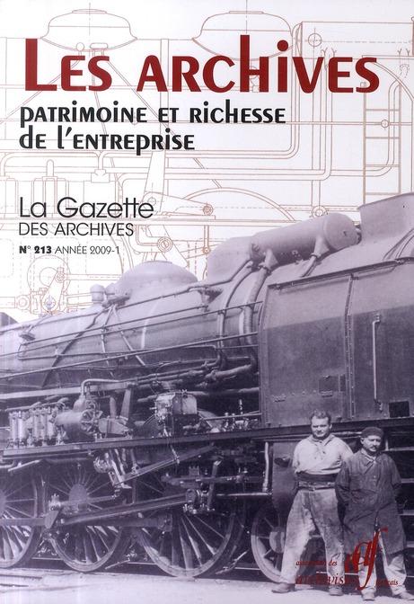 Les archives ; patrimoine et richesse de l'entreprise