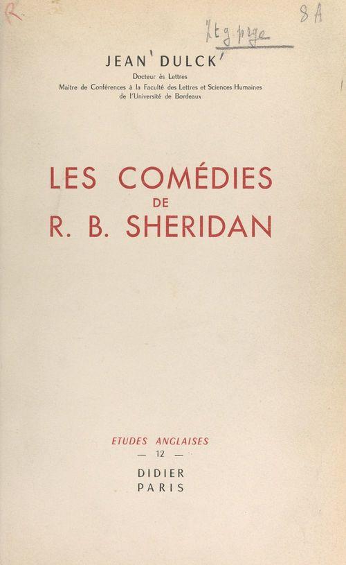 Les comédies de R. B. Sheridan