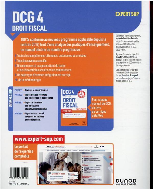DCG 4 : droit fiscal ; manuel (édition 2021/2022)