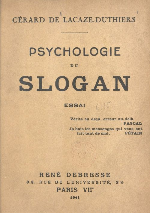 Psychologie du slogan