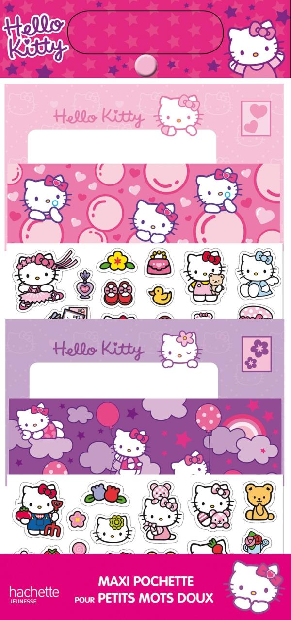 Hello Kitty ; Maxi Pochette Pour Petits Mots Doux