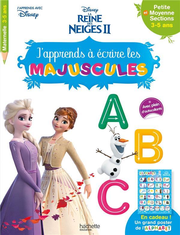 La Reine Des Neiges 2 ; J'Apprends A Ecrire Les Majuscules , Ps, Ms