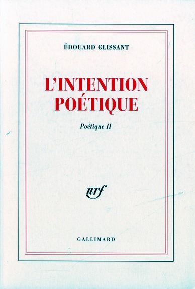 L'intention poetique