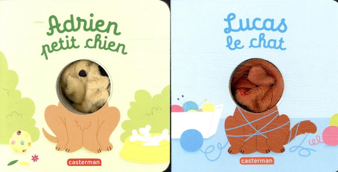 Coffret bébêtes chat et chien ; Adiren petit chien ; Lucas le chat