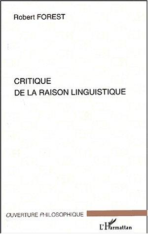 Critique de la raison linguistique