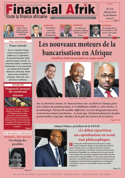 Financial Afrik n°20 septembre 2015
