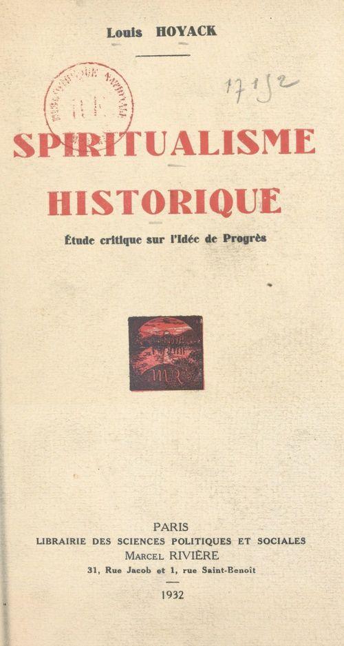 Spiritualisme historique