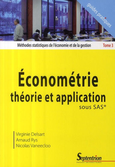 Econometrie, Theorie Et Application