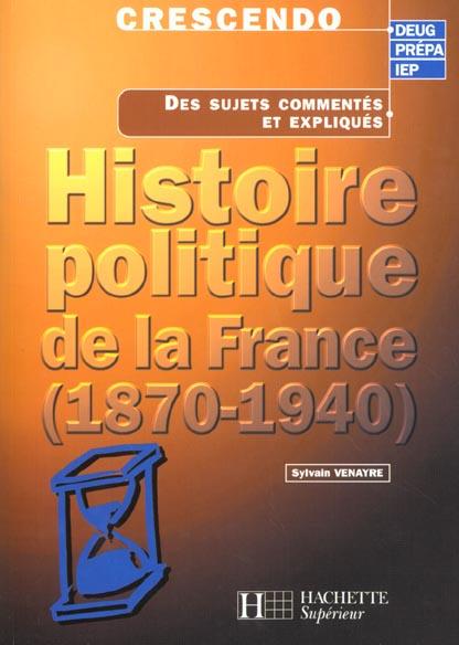 L'histoire politique de la france 1870-1940