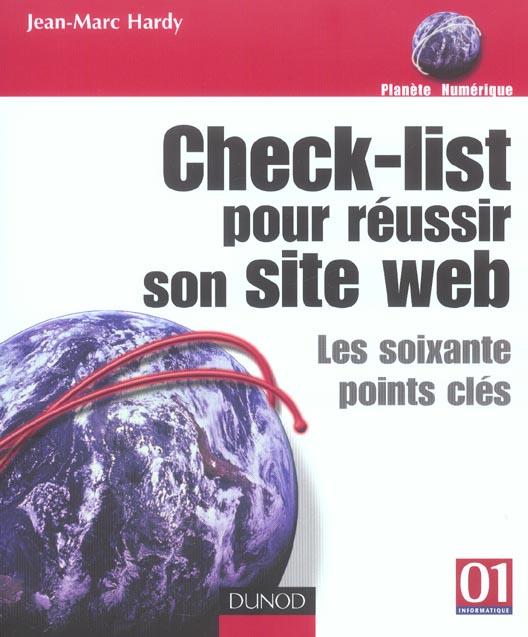 Check-list pour reussir son site web ; les 60 points-cles