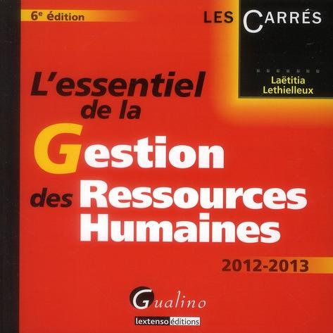 L'essentiel de la gestion des ressources humaines (6e édition)