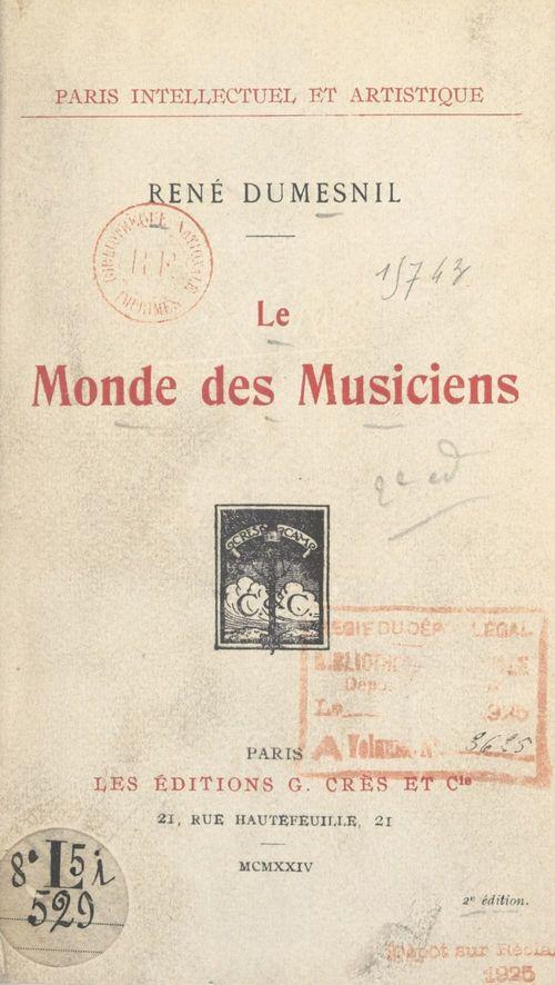 Le monde des musiciens