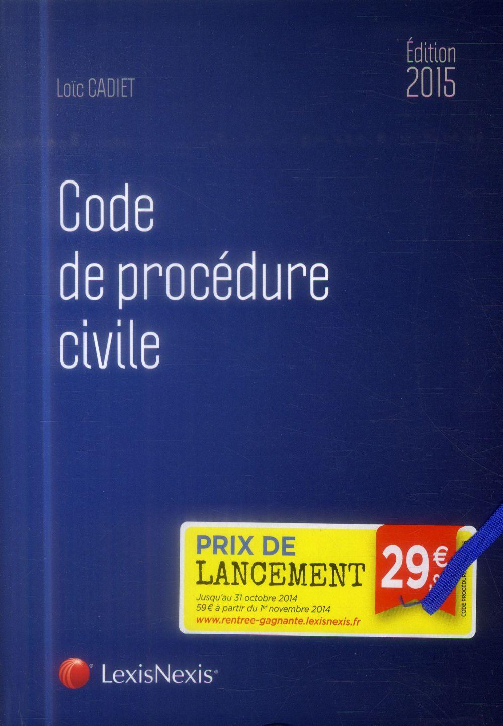 Code de procédure civile (édition 2015)
