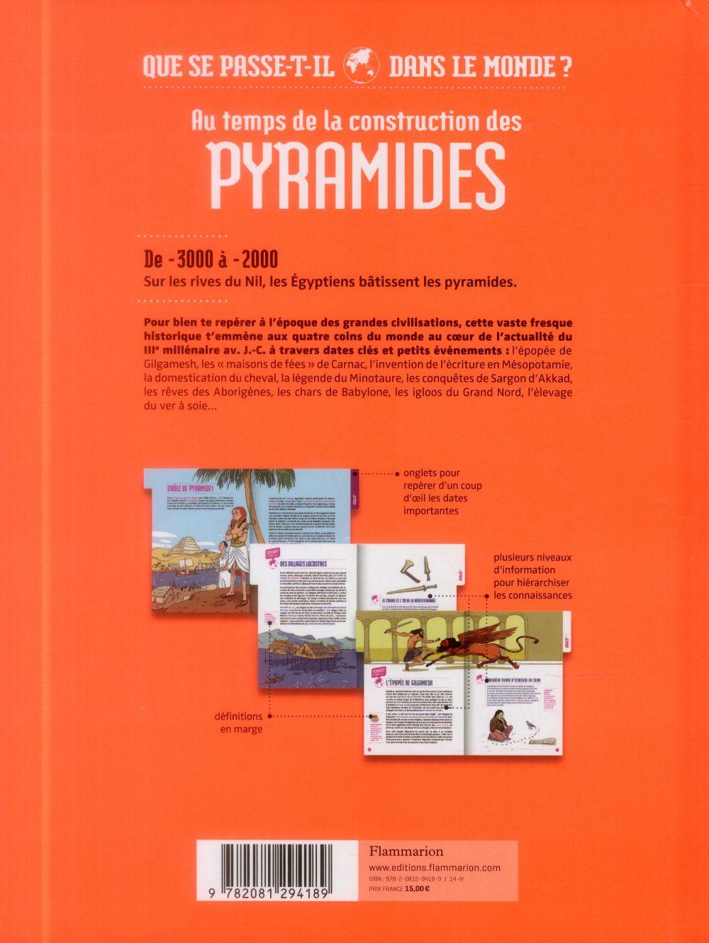 Au temps de la construction des pyramides ; que se passe-t'il dans lemonde ?