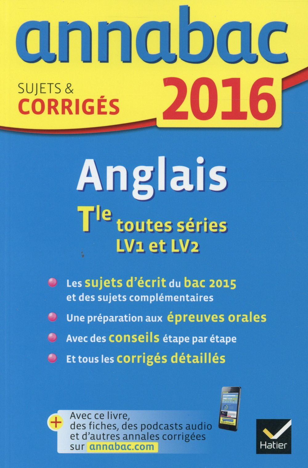 Annabac ; Anglais ; Terminale (Edition 2016)