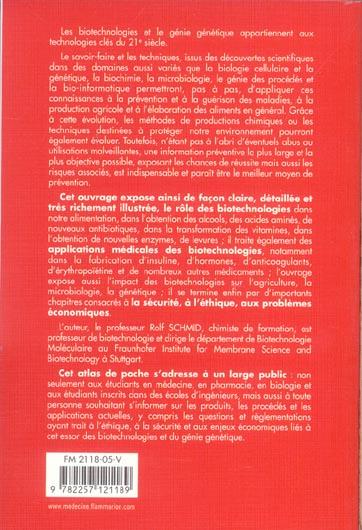 Atlas de poche de biotechnologie et de genie genetique