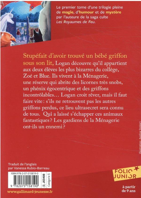 SOS créatures fantastiques t.1 ; le secret des petits griffons