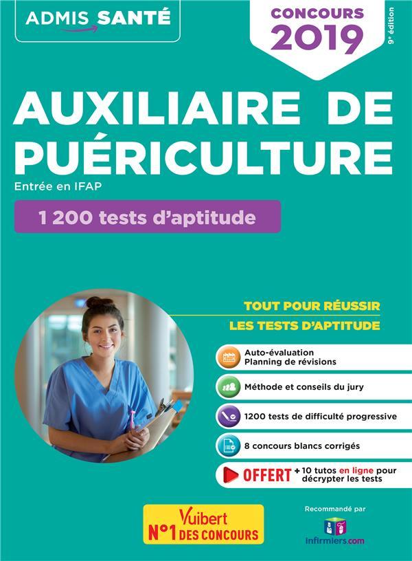 Auxiliaire de puériculture ; entrée en IFAP ; 1200 tests d'aptitude (concours 2019)